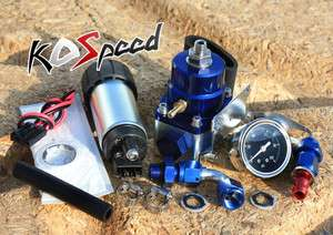 BYPASS FUEL PRESSURE REGULATOR+0 100 PSI LIQUID FILLED GAUGE+PUMP KIT