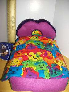 NEW Pet Bed DOLL Hide N Sleep Bedroom Furniture BED Plush Fleece SHEET