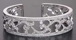 Leslie Greene 18K White Gold Diamond Cuff Bracelet