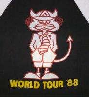 AC/DC Vintage Concert SHIRT 80s TOUR T RARE ORIGINAL 1988 Raglan
