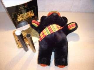 ASHANTI KINGDOM ROYAL FAMILY KWESI TEDDY BEAR w PAPERS