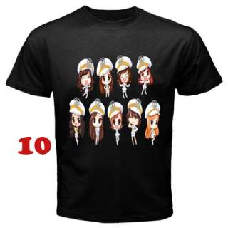 SNSD Girls Generation T Shirt S 3XL   Assorted Style (Black)