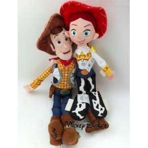 Disney Pixar Toy Story JESSIE 16 & WOODY 18 Plush Dolls