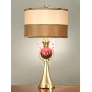Dale Tiffany Pink Flamingo Table Lamp with Antique Brass