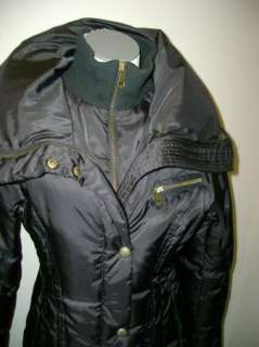 Andrew Marc Down Puffer Maxi Coat Serene NWT $450 Black