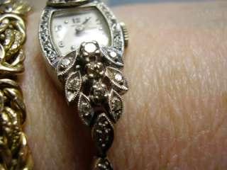 Vintage Hamilton 14K White Gold Diamond Watch