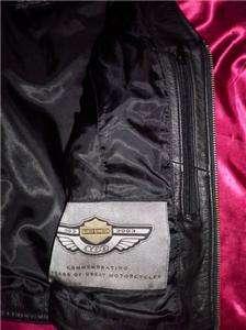 Harley Davidson Black Leather Motorcycle Riding Vest