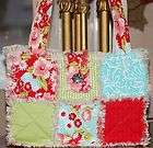 NEW BEAUTIFUL SAMPLER RAG BAG PURSE TOTE m/w MODA RUBY