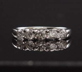 MAGICAL ESTATE 14K WHITE GOLD SHARED MOUNT .85 CT DIAMOND ANNIVERSARY