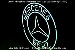 BIG MERCEDES BENZ LOGO EU AUTO CAR DEALER PUB DISPLAY STORE NEON LIGHT