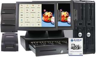 ALDELO POS RESTAURANT COMPLETE SYSTEM 2 Stations NEW