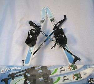 kids ski set wit poles nonslip base whitewoods snowman cross country