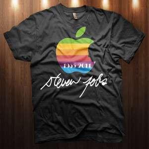 Shirt Apple Logo silhouette memorial tribute iphone MAC ipod T SHIRT