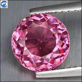 cts  Natural Neon Pink Round Cut  Genuine Tourmaline  VVS