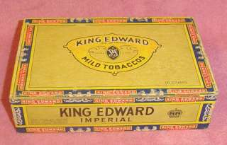 Vintage King Edward the Seventh Swisher & Son Cigar Box