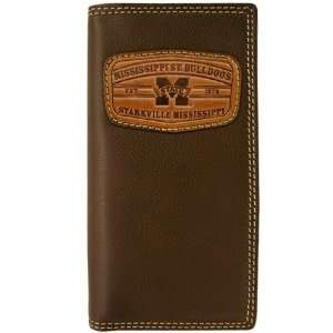 Mississippi State Bulldogs Brown Leather Secretary Wallet