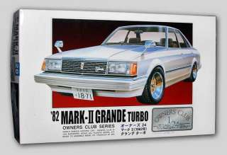 1982 TOYOTA MARK II TURBO 1/24 Arii Owners Kit #31167