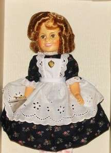 for a Cabinet Size Ideal Shirley Temple in Blue Dress with Apron NRFB