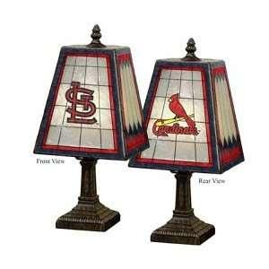 ... 14 Art Glass Table Lamp St Louis Cardinals ...