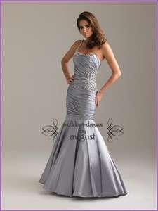 Green Mermaid Bridesmaid Prom Formal Evening Girl Party Dresses Custom