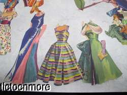 VINTAGE PAPER DOLL DRESS UP PLAY SET PIPER LAURIE GLAMOUR CLOTHES