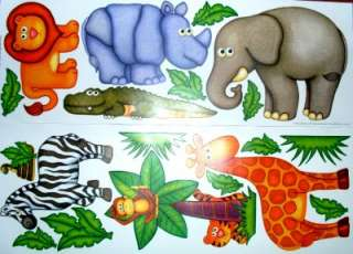 KIDS ROOM WALL DECALS/NURSERY☻SAFARI☻JUNGLE☻MONKEY♥ZEBRA