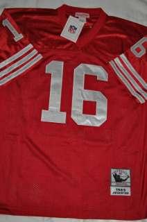AUTHENTIC SAN FRANCISCO 49ERS JOE MONTANA #16 1989 RED THROWBACK