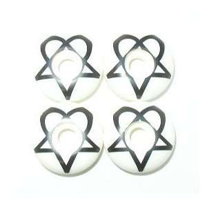 HEARTAGRAM 54mm WHITE Skateboard WHEELS Sale!: Sports & Outdoors
