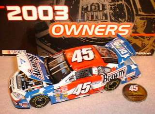 KYLE PETTY 2003 BRAWNY TEAM CALIBER OWNERS 1/24 NEW
