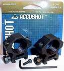 Accushot 1 Low Profile Rifle Scope Mount Rings RGWM 25L2