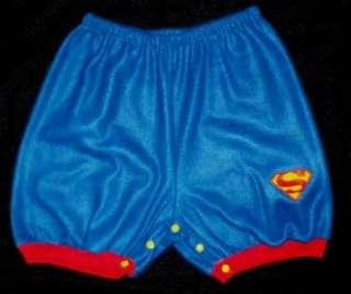 Adult Baby 48 SUPERMAN LOGO Fleece SNAP SHORTS, by LL