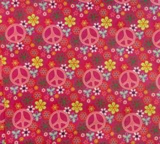 Awesome Custom Pink Peace Flower Power Dog Collar