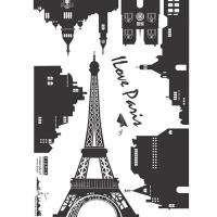 Paris Eiffel Tower Removable Wall Decal Sticker SS217
