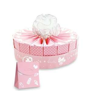 Its a Girl Baby Shower Favor Cake Kit   1 Layer Kit for