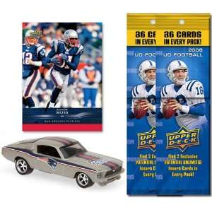 NFL 1967 Ford Mustang Fastback w/ Trading Card & 2 2008 Fat Packs New