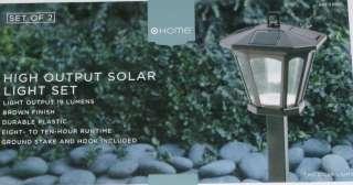High Output Solar Light Set brown LED yard lights