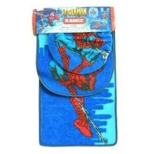 Marvel Spiderman 3 pcs Bath accessories set (bath mat, lid