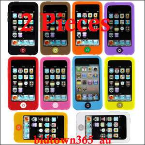 2pcs x Soft Gel Silicone back Case Cover Skin Pouch For iPod Touch 4