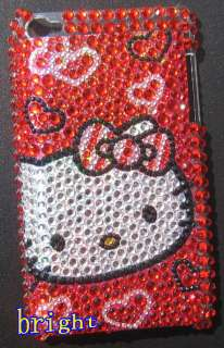 New Hello kitty Bling Case Cover For iPod Touch 4 4G #X