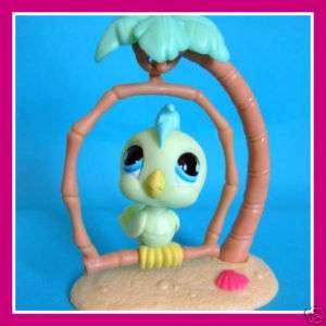 Littlest Pet Shop Pastel Green COCKATOO BIRD #858 $2sh