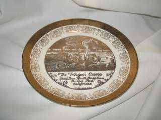 Vintage Plate Wagon Camp Ghost Town Knotts Berry Farm
