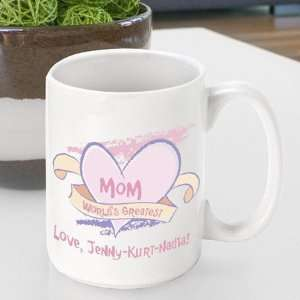 Personalized Mothers Day Worlds Greatest Mom Coffee Mug