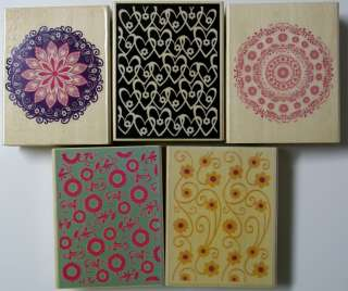 Assorted Backgrounds Wood mounted Rubber Stamps Your Choice New