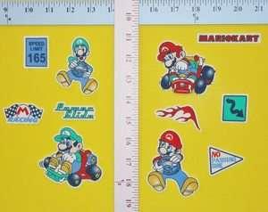 Super Mario Luigi Brothers fabric iron on appliques, set of 11