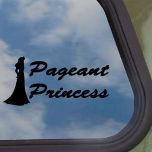 Pageant Princess Beauty Queen Black Decal Window Sticker