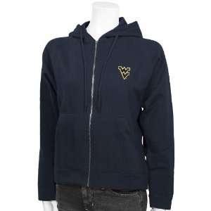 Navy Blue Ladies Full Zip Hoody Sweatshirt