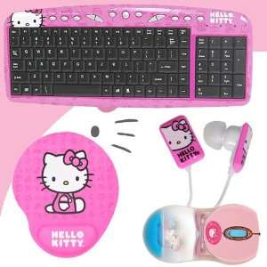 with Hot Keys #90309K (Pink) + Hello Kitty Bathtub Liquid Mouse #81409