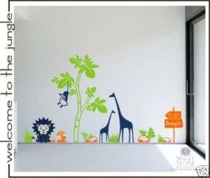 Jungle Nursery   Vinyl Wall Decal Sticker Art