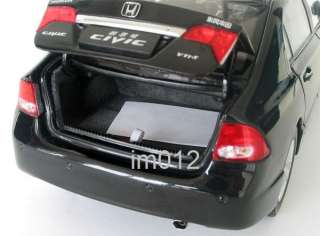 China 1/18 Honda civic New black car model new in box  sales