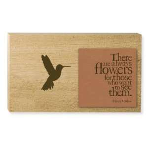 Always Flowers Quote Wooden Cedar Decorative Garden Sign